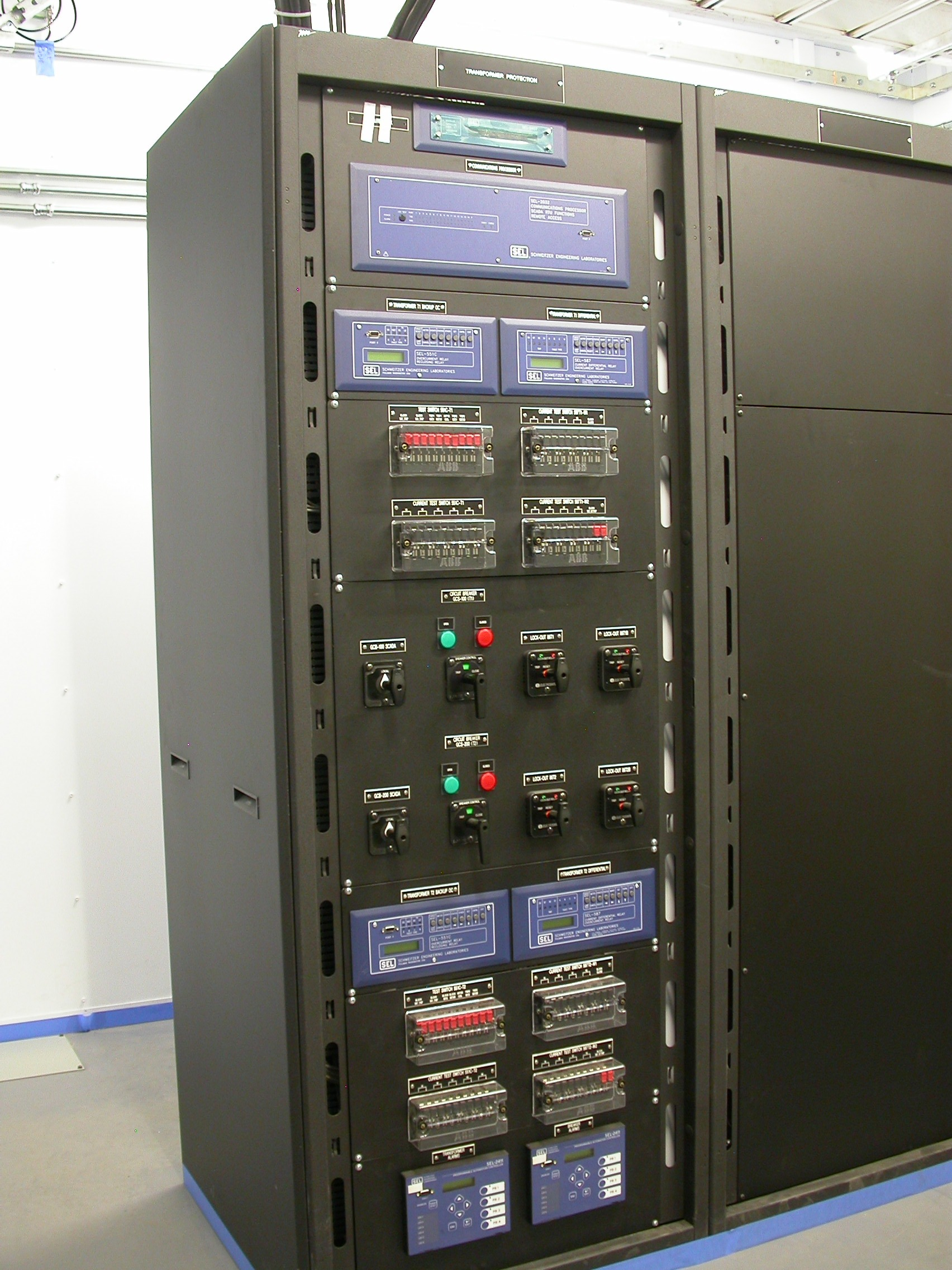 Relay Racks Industrial Control Panel Hazardous Control